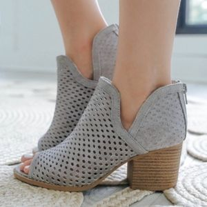 Shoes - JUSTINE Booties - LT. GREY